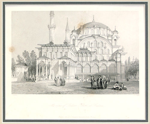 Mosque of Sultan Selim at Scutari Гравюра (середина XIX века), Западная Европа Гравюра ; Гравюра, Бумага Размер: 19,3 х 12,6 см 1840 г инфо 9900k.