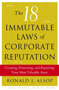 The 18 Immutable Laws of Corporate Reputation: Creating, Protecting, and Repairing Your Most Valuable Asset Издательство: Free Press, 2004 г Твердый переплет, 288 стр ISBN 074323670X инфо 13737l.